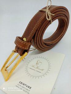 ceinture cuir marron 25mm