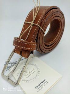 ceinture cuir marron